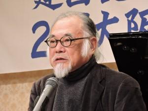 講演する原田敬一さん